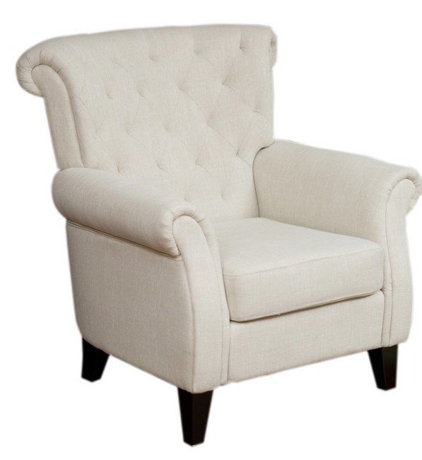 Merveilleux McClain Tufted Upholstered Arm Chair