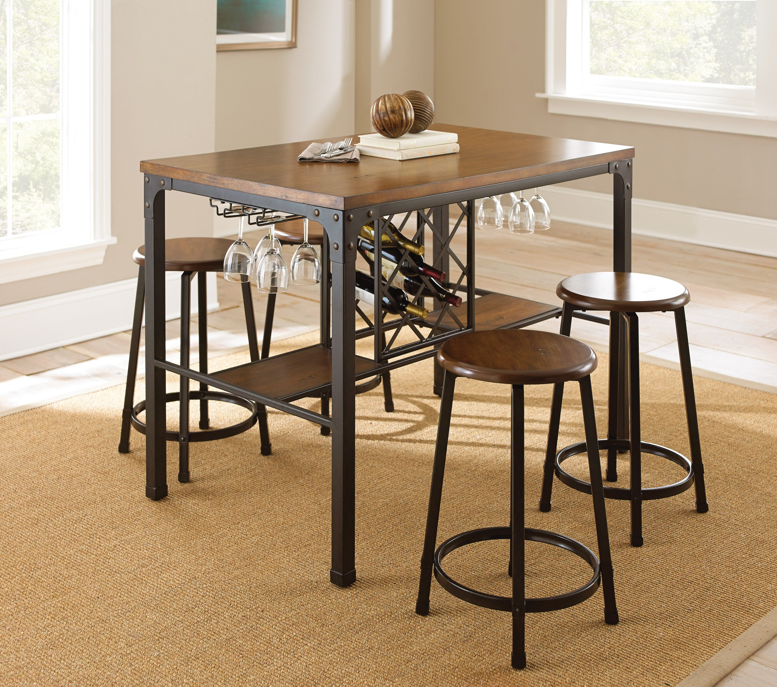Rebecca Counter Height Pub Table Set