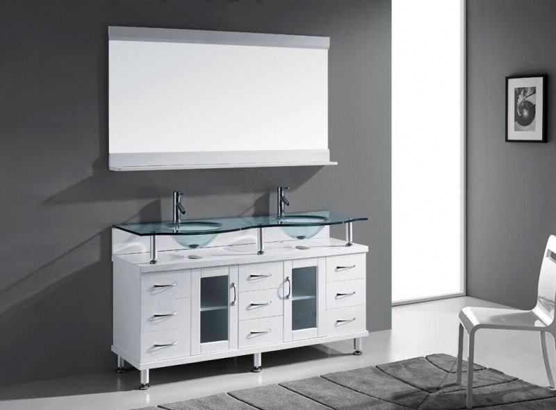 "Rocco 61"" Double Bathroom Vanity Set with Mirror"
