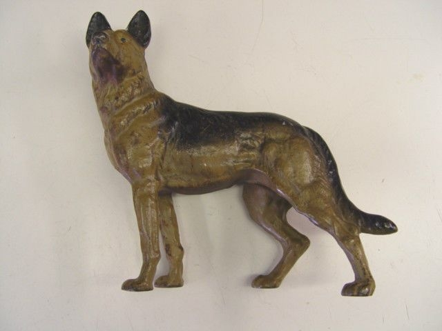Antique Hubley Cast Iron German Shepherd Police Dog Door Stop