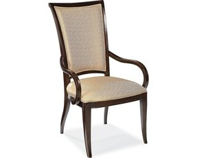 Classic upholstered back arm chairs 2