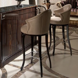 Dining room bar stools high end litalian leather bar stool