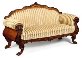 North european carved walnut sofa late 19th century