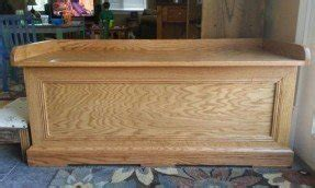 Oak Storage Bench 10