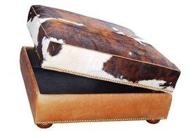 Awe Inspiring Cowhide Ottomans Ideas On Foter Theyellowbook Wood Chair Design Ideas Theyellowbookinfo
