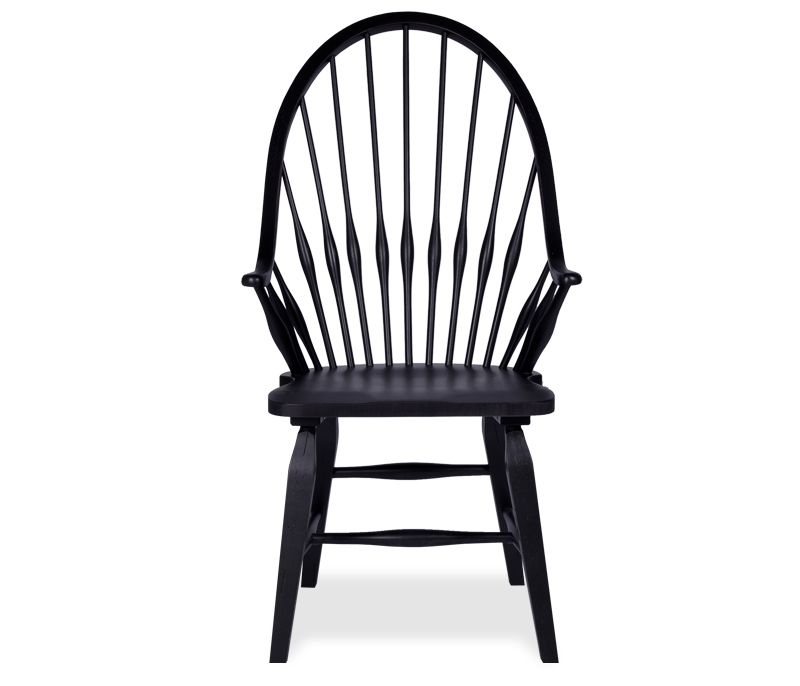 Windsor Arm Chair Black The Distinctive Look Of This Arm