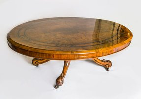 06053 antique victorian burr walnut coffee table c 1880 1