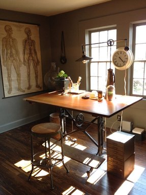 Glass drafting tables foter 12 antique drafting table designs made with wood and glass malvernweather Gallery