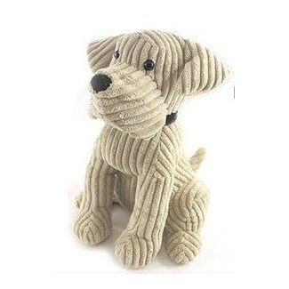 Animal door stops cream dog corduroy