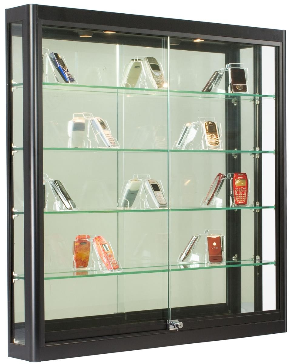Bon Cabinet With Glass Doors Wall Mounted Tempered Glass Cabinet