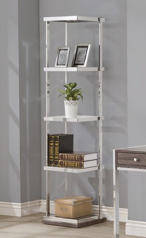 Chrome bookcases