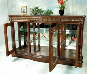Of Course To Expose Family S Porcelain The Main Part Console Curio Cabinet Is Made Gl