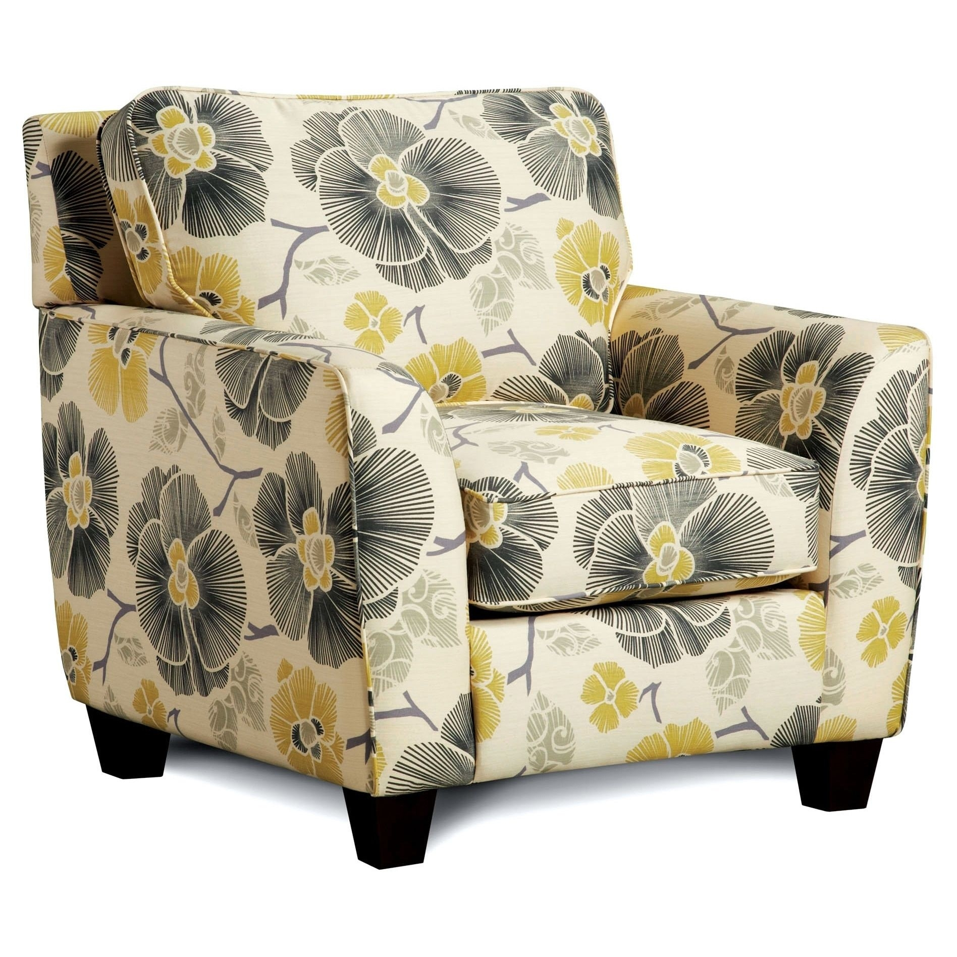 Marvelous Floral Upholstered Accent Chair .