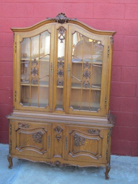 French Antique China Cabinet Display Cabinet Curio Cabinet Antique 2