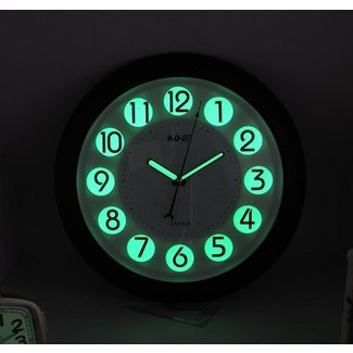 Inch round glow in the dark wall clock luminous digital