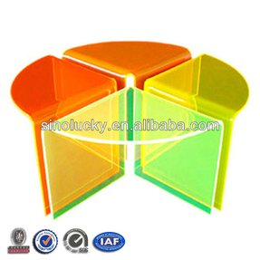 Multi color acrylic coffee table cocktail table
