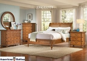 Page 7 Tropical Wicker Bedroom Furniture Bamboo Bed Rattan