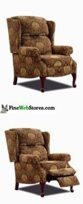like rb items dsc reclining anne recliner chair queen ixlib leather style wingback ebth