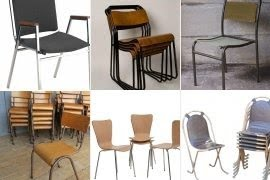 Beau Steel Stacking Chairs