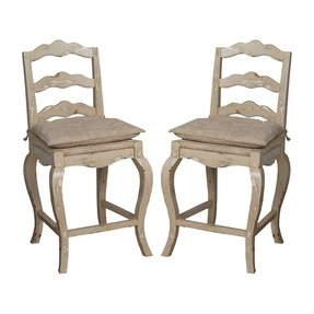 Barstools french provincial counter stools antique white set of 2