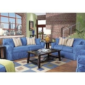 Superieur Beachside Denim 8 Pc Livingroom Rooms To Go Livingroom Furniture