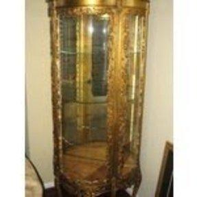 Gold Curio Cabinets