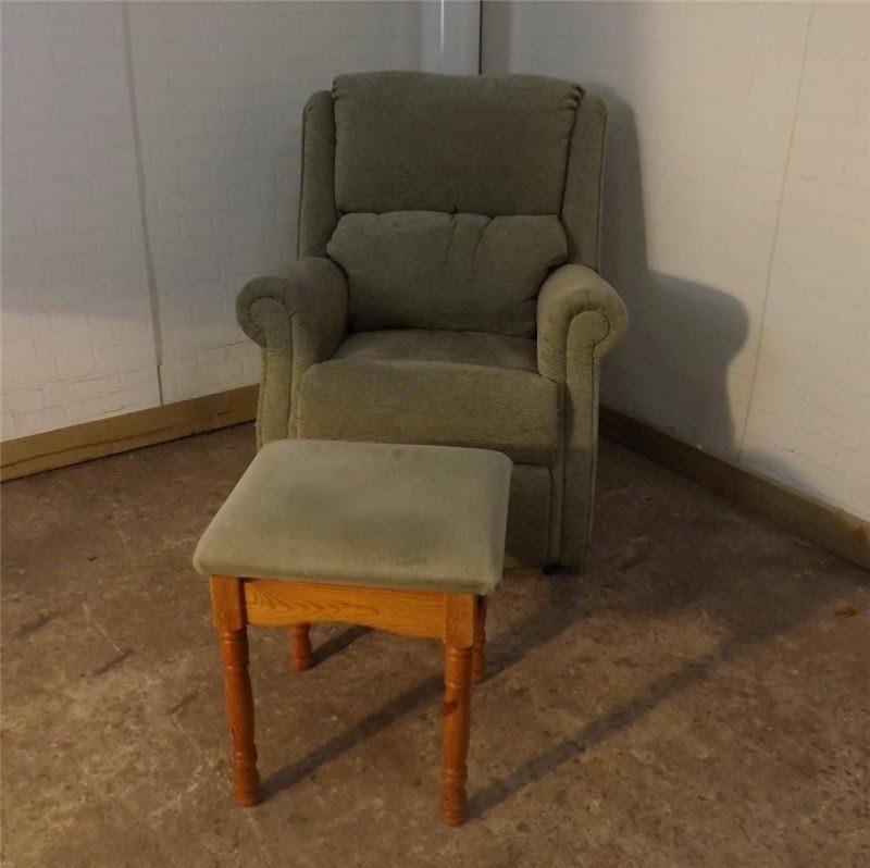 Merveilleux Green Fabric Armchair Fireside Chair Supportive High Seat Furniture