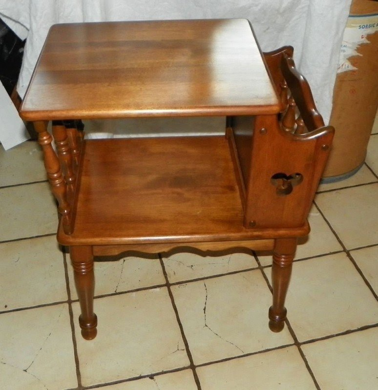 Maple End Tables Foter. End Tables Table Magazine Rack ...