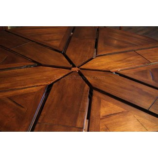 54 To 70 Round Solid Walnut Dining Table