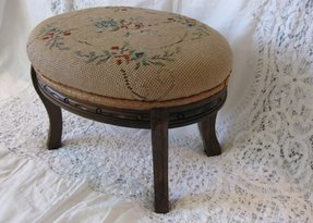 Antique needlepoint footstools antique needlepoint footstool roses