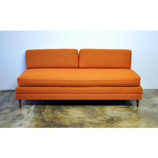 Danish modern sofa or daybed with trundle pull out bed