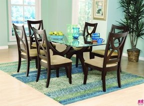 Wood Base Glass Top Dining Table Ideas On Foter