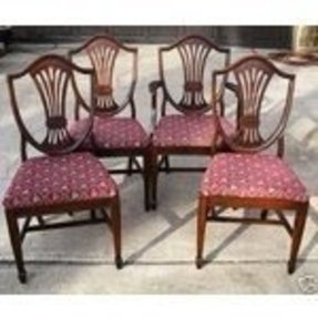 Ebay image 1 set 4 mahogany shield back dining chairs