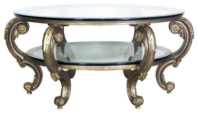 Florentine Coffee Table Base Round Mediterranean Coffee Tables