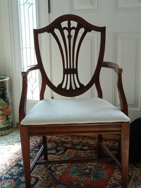Shield back dining arm chair 4