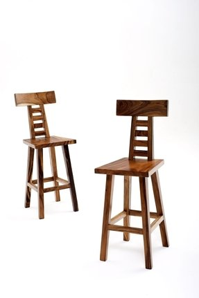 Wood counter height bar stools