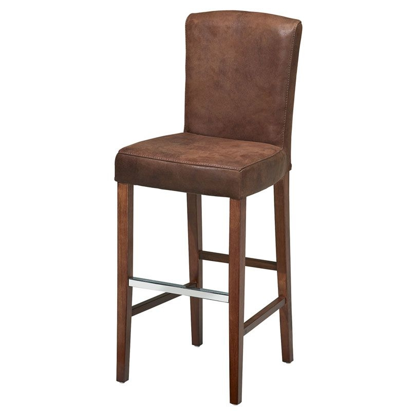 Leather Bar Stools With Backs Foter