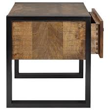 Chic Atelier Industrial Chic Wood Nightstand With Metal Legs