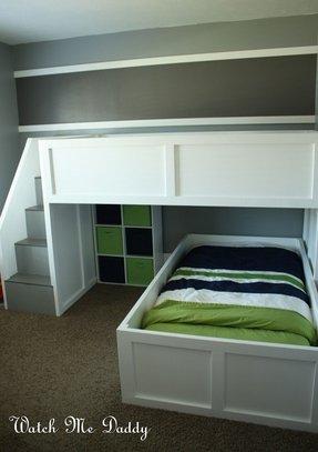 L Shape Loft Bed Ideas On Foter