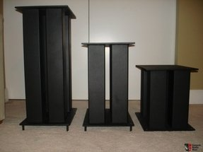 High mass 4 poles welded metal speaker stands custom sizes