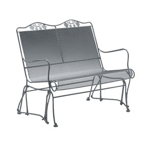 Micro Mesh Highback Metal Porch Glider From Hayneedle