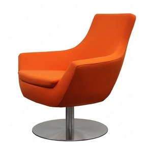 Orange swivel chairs