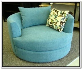 Round Swivel Chair With Cup Holder Oversized Round Swivel Chair