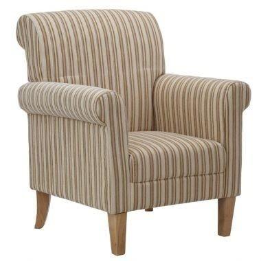 Oscar Cream Striped Armchair