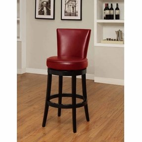 Inspirational Red Leather Bar Stools with Arms
