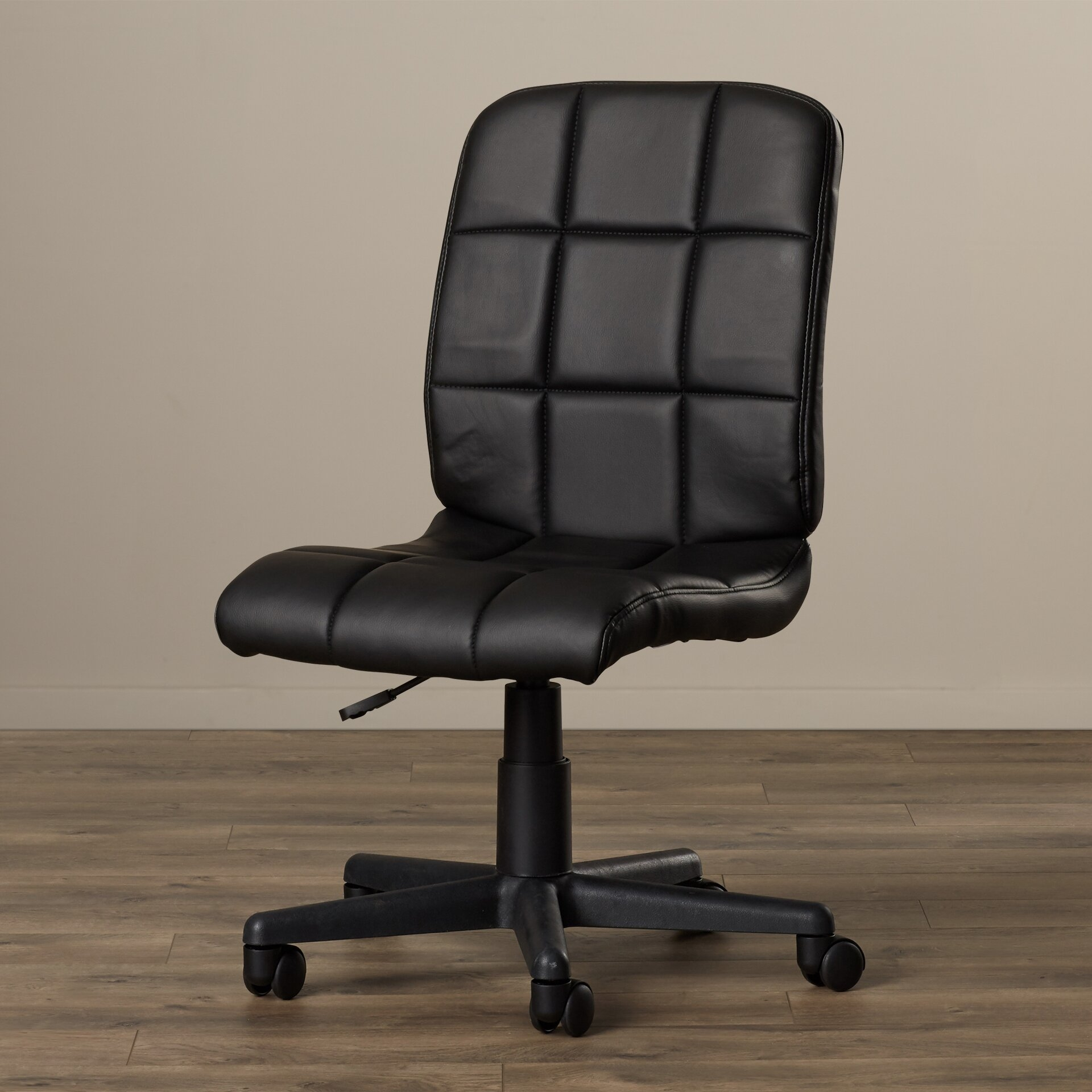 Ceil Adjustable Mid-Back Leather Quilted Office Chair