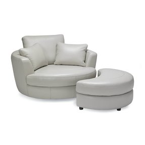 Cuddle Swivel Chair And Ottoman