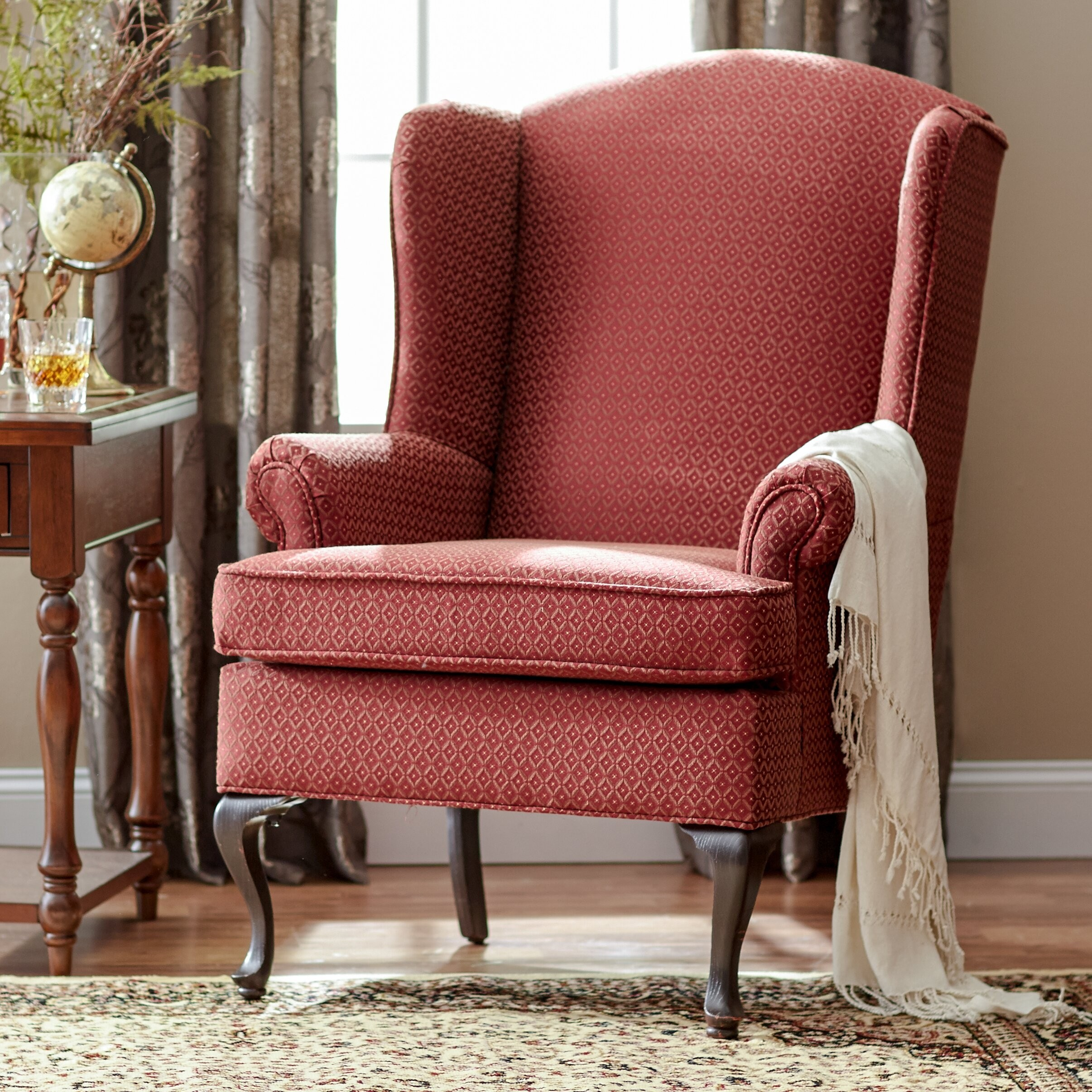 Gentil Damask Wingback Chair By Serta Upholstery
