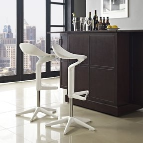Flare Adjustable Height Swivel Bar Stool