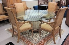 Glass top round kitchen table sets 10